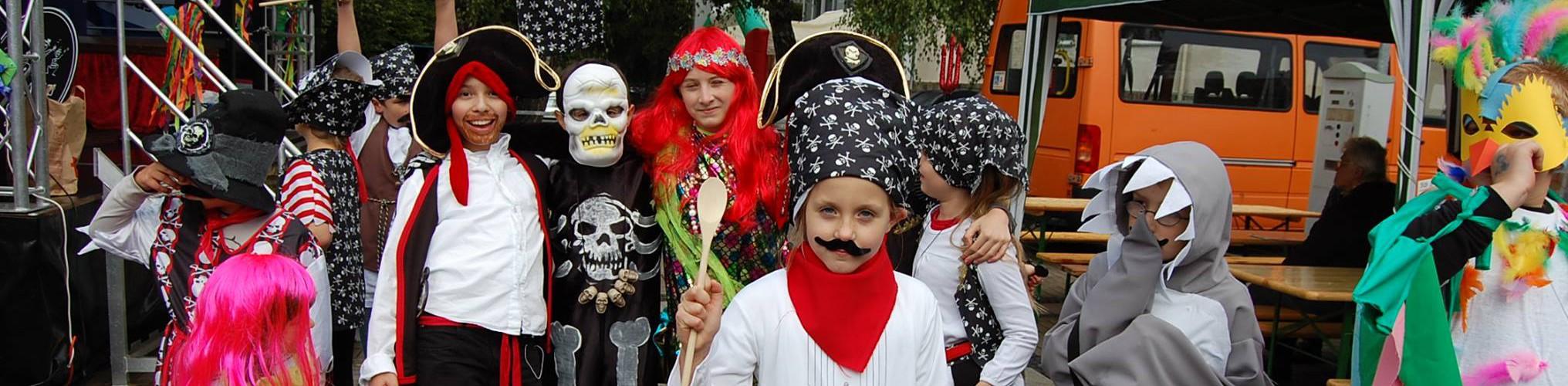 Die Grille Piraten auf dem Weltkindertag