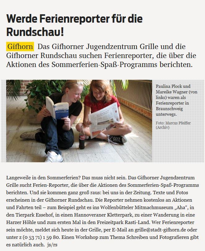Ferienreporter Rundschau